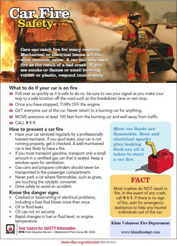 Car Fire Safety Tips