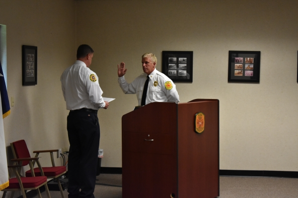 Swearing in of First Paid Fire Chief